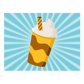 Cartão Postal Batido do caramelo