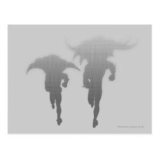 Cartão Postal Batman e inclinação da reticulação do pisco de