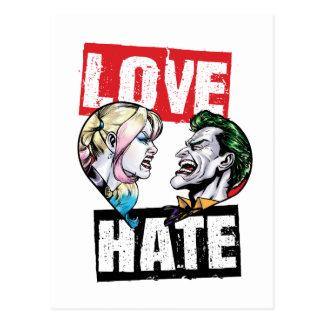 Cartão Postal Batman | Harley Quinn & amor do palhaço/ódio