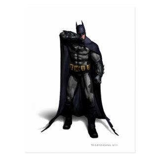 Cartão Postal Batman que limpa sua testa