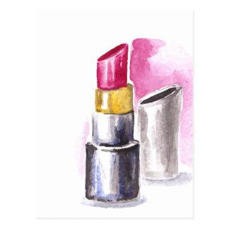 Cartão Postal Batom cor-de-rosa