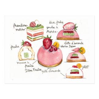 Cartão Postal Bavoirois cor-de-rosa