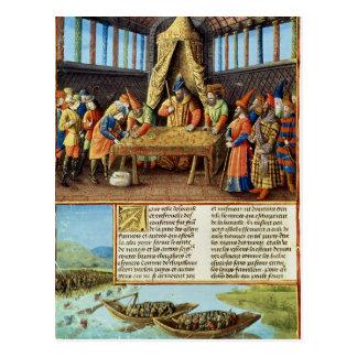 Cartão Postal Bayezid I que recebe o resgate
