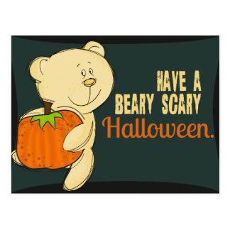 Cartão Postal Beary o Dia das Bruxas assustador