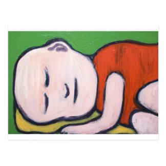 Cartão Postal Bebê de sono Buddha (pop art do budismo)