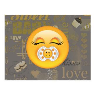 Cartão Postal Bebê doce ID231 de Emoji
