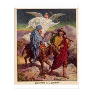 Cartão Postal Bebê Jesus em sua maneira a Egipto
