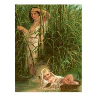 Cartão Postal Bebê Moses e o rio Nile