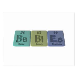 Cartão Postal Bebê-Vagabundo-Bi-Es-Bário-Bismuto-Einsteinio