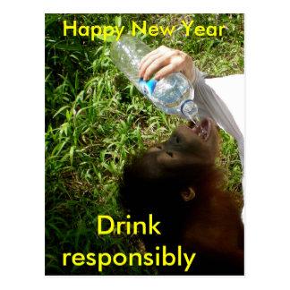 Cartão Postal Bebendo da celebração