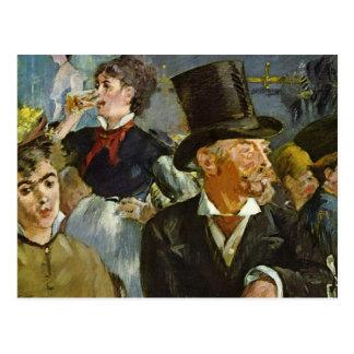 Cartão Postal Bebendo da cerveja - Edouard Manet