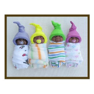 Cartão Postal Bebês da argila do afro-americano: Argila do