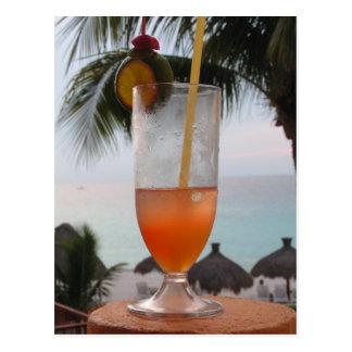 Cartão Postal Bebida do perfurador do rum