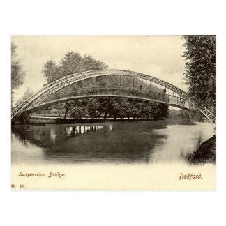 Cartão Postal Bedford, ponte de suspensão
