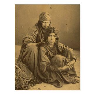 Cartão Postal Beduínos, Cisjordânia, vintage de Jericho