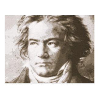 Cartão Postal Beethoven no Sepia