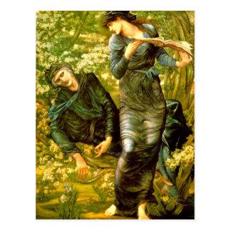 Cartão Postal Beguiling da pintura 1874 de Burne-Jones do ~ de