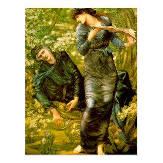 Cartão Postal Beguiling de Merlin - Edward Burne-Jones
