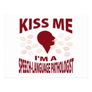 Cartão Postal Beije-me que eu sou um patologista da