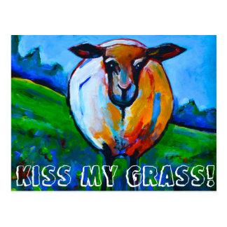 Cartão Postal Beije minha grama!