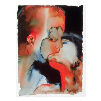 Cartão Postal Beijo 1988 do Fim-acima