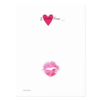 Cartão Postal Beijo dos namorados