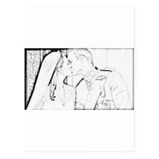 Cartão Postal Beijo e de Kate