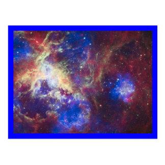Cartão Postal Beira do azul da nebulosa do Tarantula