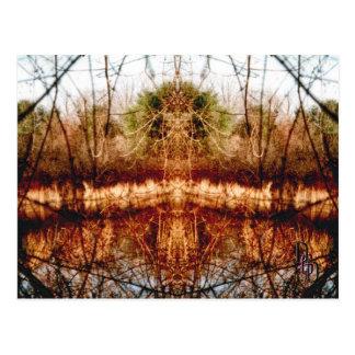 Cartão Postal Beira do lago