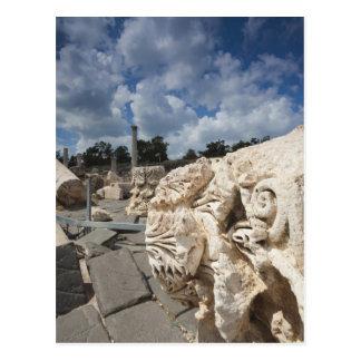 Cartão Postal Beit ela-Um parque nacional, ruínas da Romano-era