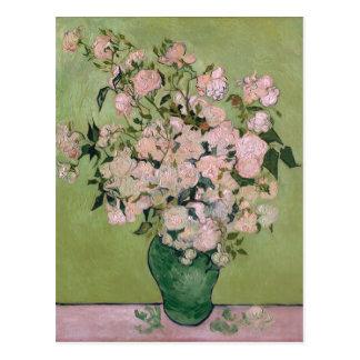 Cartão Postal Belas artes cor-de-rosa de Van Gogh dos rosas