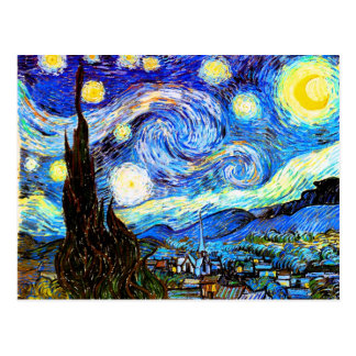 Cartão Postal Belas artes da noite estrelado de Van Gogh