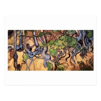 Cartão Postal Belas artes de Van Gogh das raizes e dos troncos