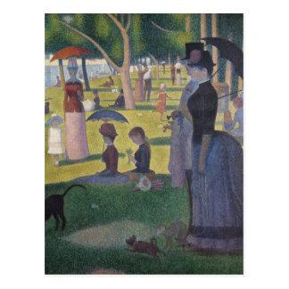 Cartão Postal Belas artes grandiosos de Jatte do La de Seurat