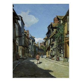 Cartão Postal Belas artes Monet Rua de la Bavole Honfleur