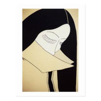 """Cartão Postal Belas artes - """"tímido & sensual """""""