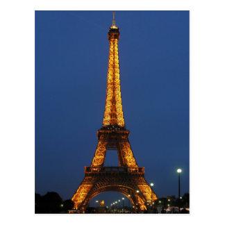 Cartão Postal Beleza da torre Eiffel