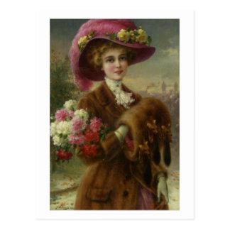 Cartão Postal Beleza do inverno - Émile Vernon
