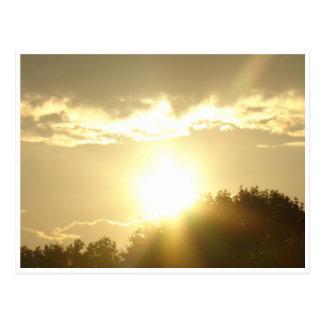 Cartão Postal Beleza em um nascer do sol