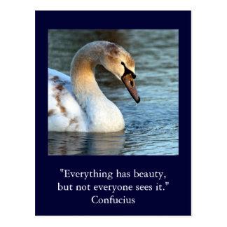 Cartão Postal Beleza inspirada 1 de Confucius das citações do