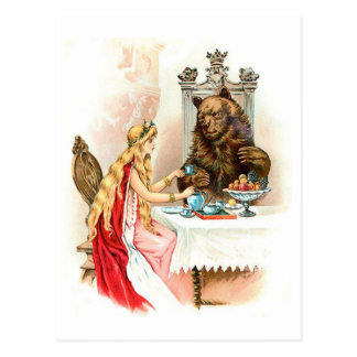 Cartão Postal Beleza no rosa e no animal