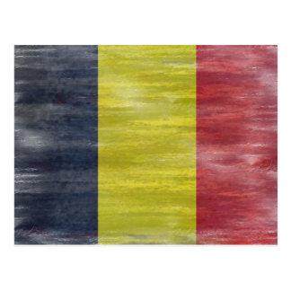 Cartão Postal Bélgica afligiu a bandeira