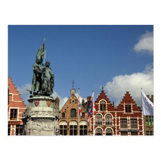 Cartão Postal Bélgica, Bruges (aka Brug ou Bruge). UNESCO