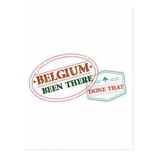 Cartão Postal Bélgica feito lá isso