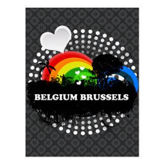 Cartão Postal Bélgica frutado bonito Bruxelas