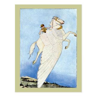 Cartão Postal Bellerophon e Pegasus
