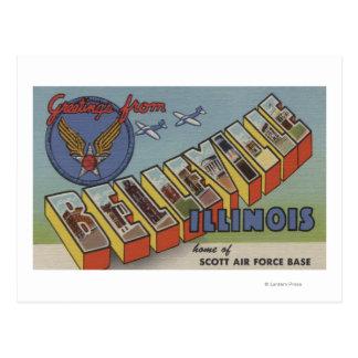 Cartão Postal Belleville, Illinois - grandes cenas da letra