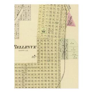 Cartão Postal Bellevue e La Platte, Nebraska