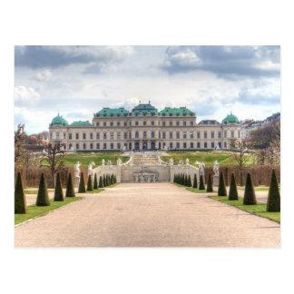 Cartão Postal Belvedere Viena Áustria