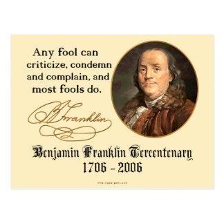 Cartão Postal Ben Franklin - tolos